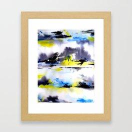 Watercolor Abstract Horizons Framed Art Print