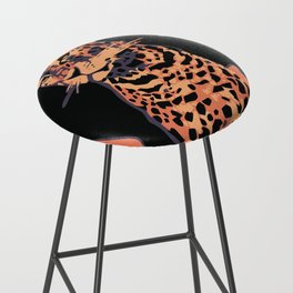 Retro vintage Munich Zoo big cats Bar Stool