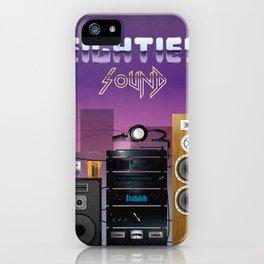 Eighties sound iPhone Case