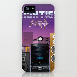 Eighties sound iPhone Case