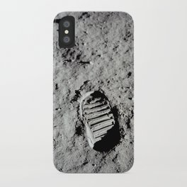 Apollo 11 - First Footprint On The Moon iPhone Case