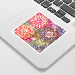 Kaleidoscope Burst Garden Sticker