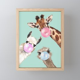 Bubble Gum Gang in Green Framed Mini Art Print