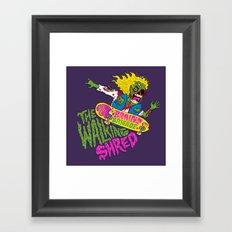 The Walking Shred Framed Art Print
