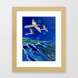 Long-Tailed Cuckoo & The Explorers Framed Art Print