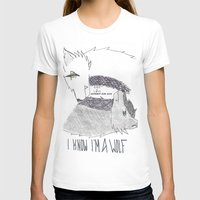 levi T-shirts featuring Wolf!Eren X Wolf!Levi by Midnight Zoe