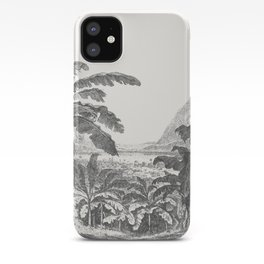 Palms and Mountain iPhone Case