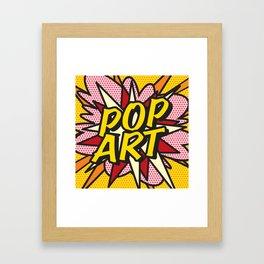 Comic Book POP ART Framed Art Print
