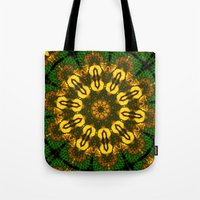 newspaper Tote Bags featuring Newspaper Swirl  by Katherine Barnett