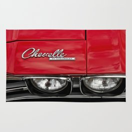 1969 Red Chevrolet Chevelle Car Rug