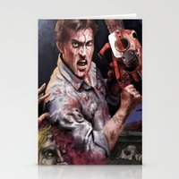 evil dead Stationery Cards featuring Ash Evil Dead by John Mungiello