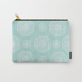 Mint Romantic Flower Mandala Pattern #2 #decor #art #society6 Carry-All Pouch