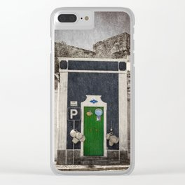 a green door in Portugal, the Alentejo Clear iPhone Case
