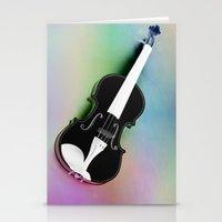 violin Stationery Cards featuring Violin by Christine baessler