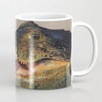 crocodile Mugs featuring Crocodile by Anna Milousheva