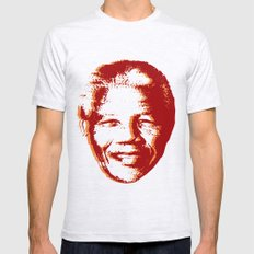 NELSON MANDELA LARGE Mens Fitted Tee Ash Grey