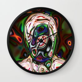 Neural Portrait #3 Wall Clock