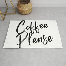 Coffee Please | Black & White Rug
