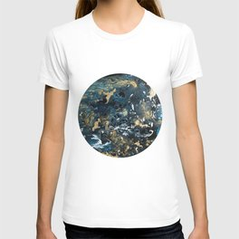 Round Outer Space Planet Earth T-shirt
