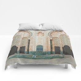 Mosque Hassan II in Casablanca, Morocco Comforters