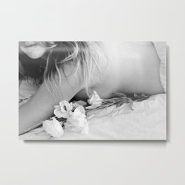 Flora Bed Metal Print