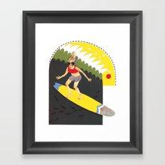 Wave riding Framed Art Print