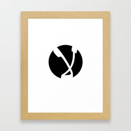 K DISSIDENT 'Laa/No' Arab Anarchy Framed Art Print