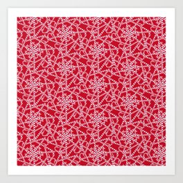 Candy cane flower pattern 2a Art Print