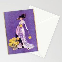 Vintage Lady from 1912 Stationery Cards