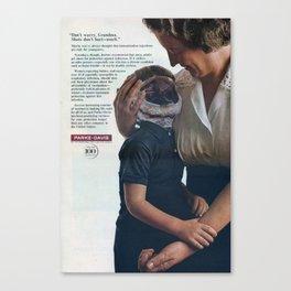 Shotgun Vaccination - Vintage Collage Canvas Print