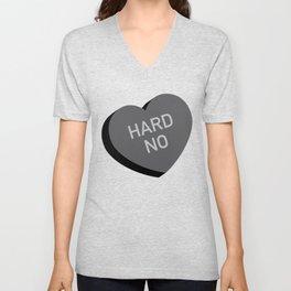 Candy Heart - Hard No Unisex V-Neck