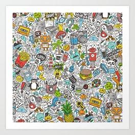 Comic Pop art Doodle Kunstdrucke
