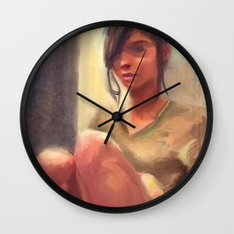 Naked From The Waist Down, In Socks Wall Clock