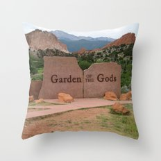 Garden of the Gods - Colorado Throw Pillow