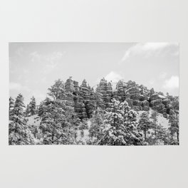 Black and White Bryce Canyon Rug