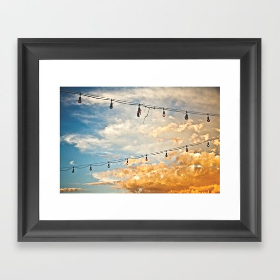 Calm Before The Storm Framed Art Print