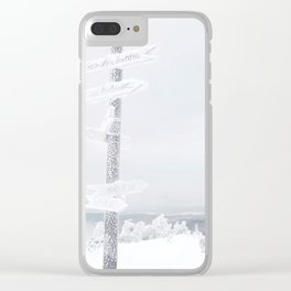 Vermont Snow Signs Clear iPhone Case