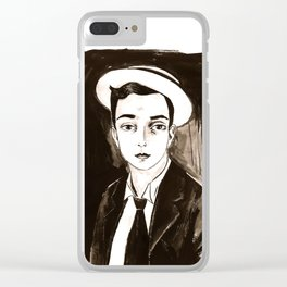 Buster Keaton per un'amica Clear iPhone Case