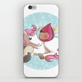 Poppettes with unicorn iPhone Skin