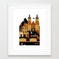 prague Framed Art Prints featuring Prague by koivo