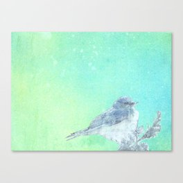 Bluebird Inked Canvas Print