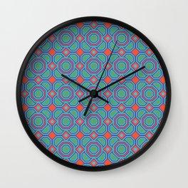 California Dreaming Abstract Geometric Seamless Pattern Wall Clock