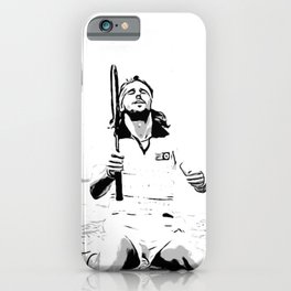 Borg Wins Wimbledon for 5th straight time iPhone Case