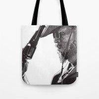 django Tote Bags featuring Django by Rik Reimert