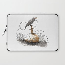 Blackbird on Sword Laptop Sleeve