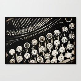 Underwood  typewriter Canvas Print