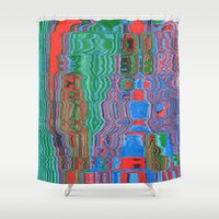 shower Shower Curtains featuring Shower by Rocovich