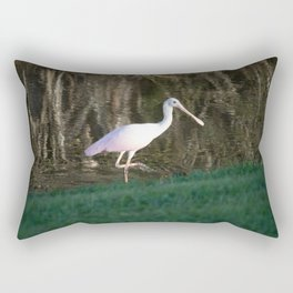 Rosy Spoonbill Rectangular Pillow