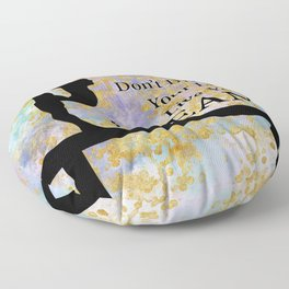 Don't Dream Your Life Live Your Dream in Golden Flakes-Gymnastics Design Floor Pillow