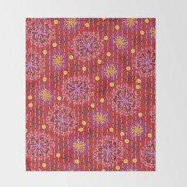 Kantha floral 5 Throw Blanket